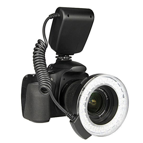 RF-550D Macro 48 pieces LED Ring Flash Light for Canon Nikon Olympus Panasonic wansen w48 4w 480lm 48 led makro macro ring lighting flash for canon nikon page 1