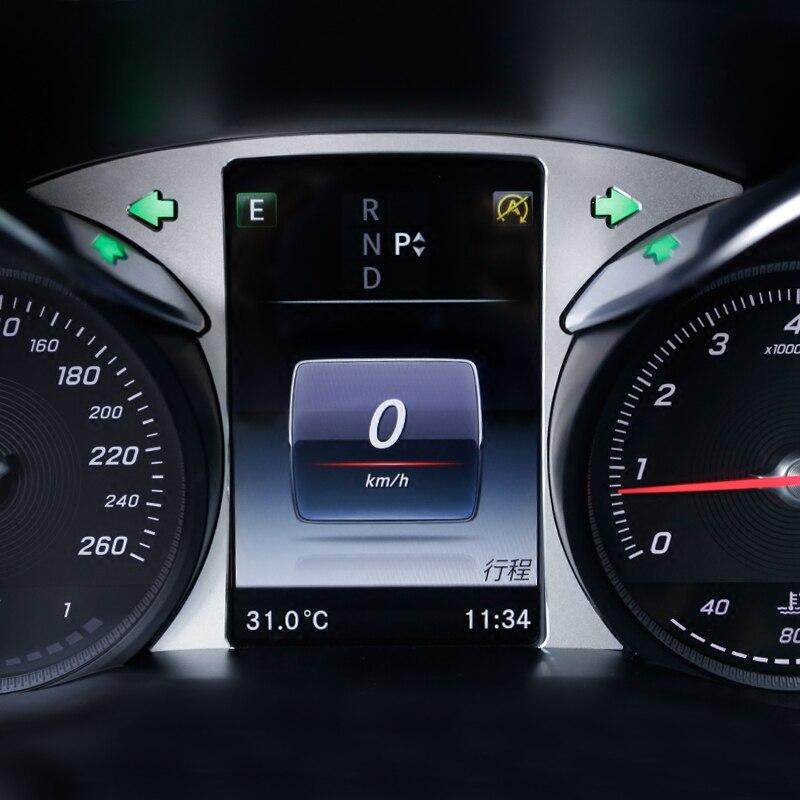 Автомобильный стиль вождения компьютера экран панели украшения стикер Накладка для Mercedes Benz C Class W205 GLC X253 2015-17