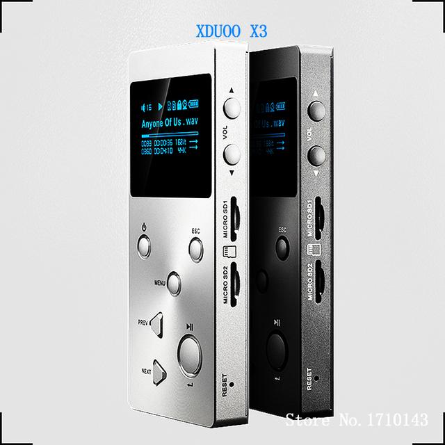 XDUOO X3 Profesional Sin Pérdidas de música de alta FIDELIDAD MP3 Reproductor de Música con Pantalla OLED HD Apoyo APE/FLAC/ALAC/WAV/WMA/OGG/MP3-2016 NUEVO