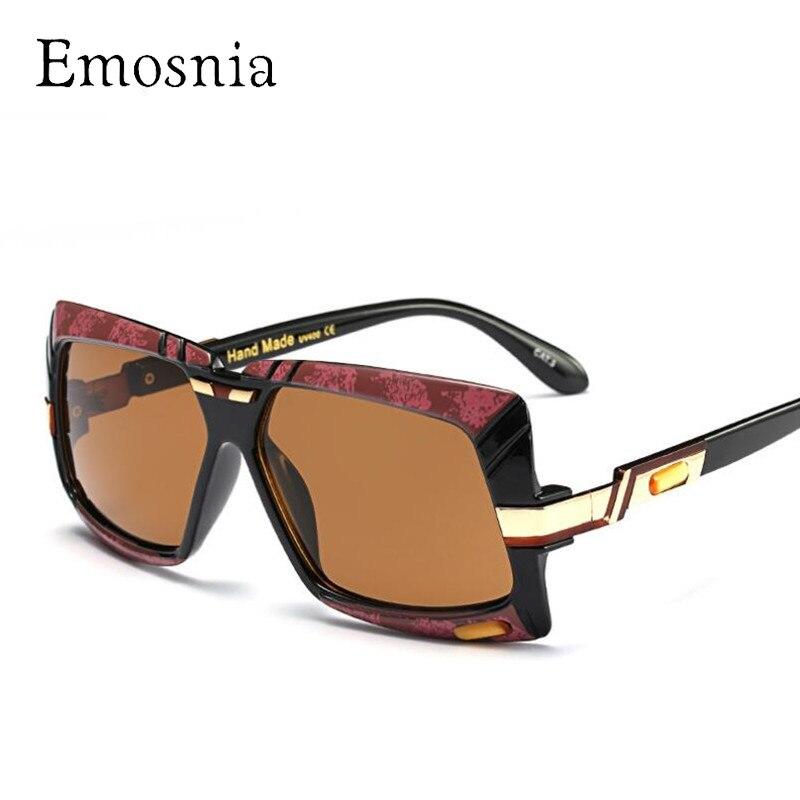Emosnia metal cuadrado oversized Gafas de sol mujeres hombres 2018 ...