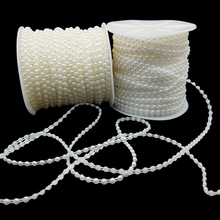 5 Yards 4mm Half Round Pearl Beads Diy Crafts Supplies Jewelry For Decoration Bridal Wedding Dresses Accessories Hot Sale Beads 1box mixed style round glass pearl beads mixed color crafts jewelry diy maker supplies hot sale
