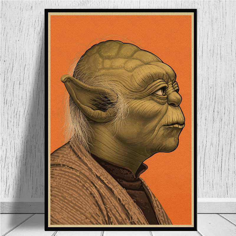 Image 4 - The profile of Star Wars characters Posters home decor kraft paper Painting wall stickers-in Wall Stickers from Home & Garden