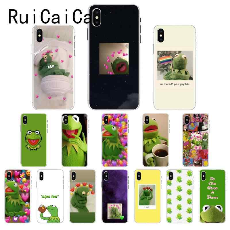 Ruicaica Kermit the Green frog Funny Cute Gay TPU Soft Phone Case Cover for iPhone X XS MAX  6 6s 7 7plus 8 8Plus 5 5S SE XR 10