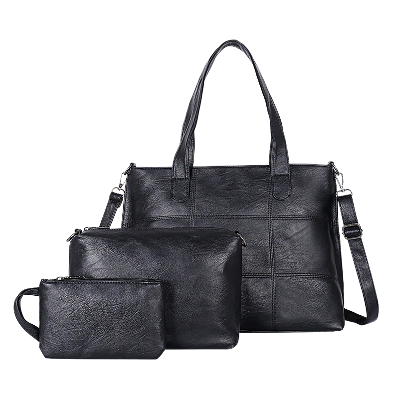 YANXI Women Bag Set Big Capacity Female Handbag Fashion Shoulder Bag Purse  Ladies PU Leather Women s Wallet Handbag Shoulder Bag-in Top-Handle Bags  from ... b9c3c3c6f473c