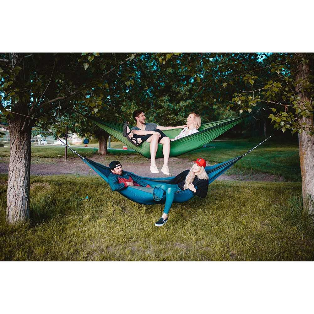 2 человек Двойной Кемпинг гамак с ремни для дерева 10 футов нейлон портативный тяжелых держит 700lbs висит продажи Сверхлегкий Hamac