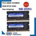 KEMBONA DDR3 1333 МГц 8 Гб (комплект 2x4 Гб) PC3-10600 1333D3S9/4G абсолютно новый SODIMM Память Ram memoria ram для ноутбука