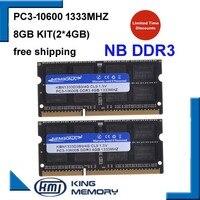 KEMBONA DDR3 1333Mhz 8GB (Kit of 2,2X 4GB) PC3 10600 1333D3S9/4G Brand New SODIMM Memory Ram memoria ram For Laptop computer