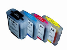 1Set Refillable Ink Cartridge for HP Business Inkjet C4844A C4836A C4837A C4838A
