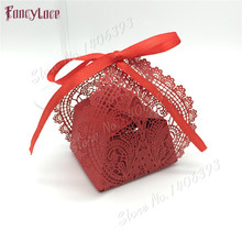 50Pcs Laser Cut Flower Wedding Candy Box Gift For Guest Favors And Gifts Christmas and Birthday Party Decoration