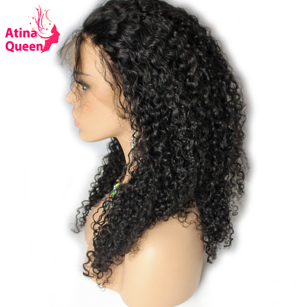 Atina Queen Glueless Full Lace Human Hair Wigs for Women Deep Wave Wig with Baby Hair