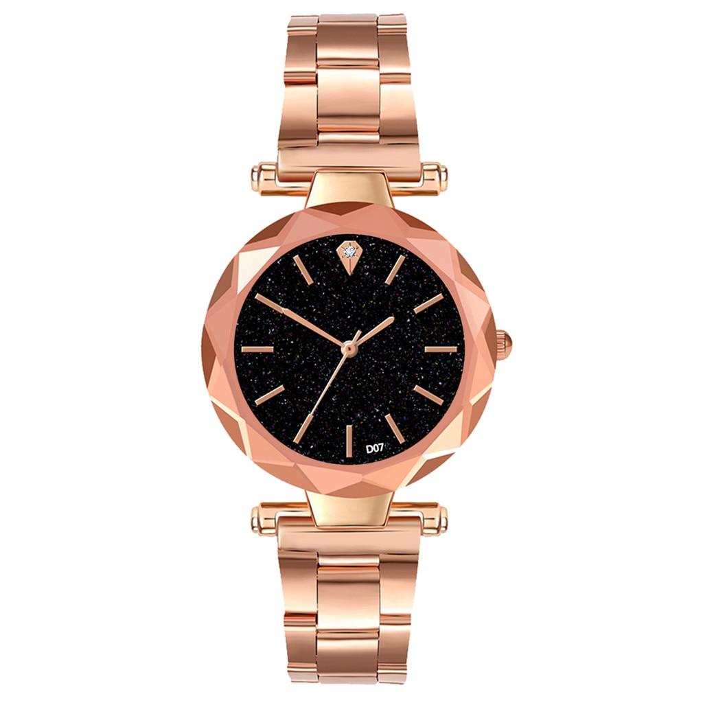Female Watch Gift Starry-Dial Feminino Stainless-Steel Zolfafashion Simple Kol Strap-Edge