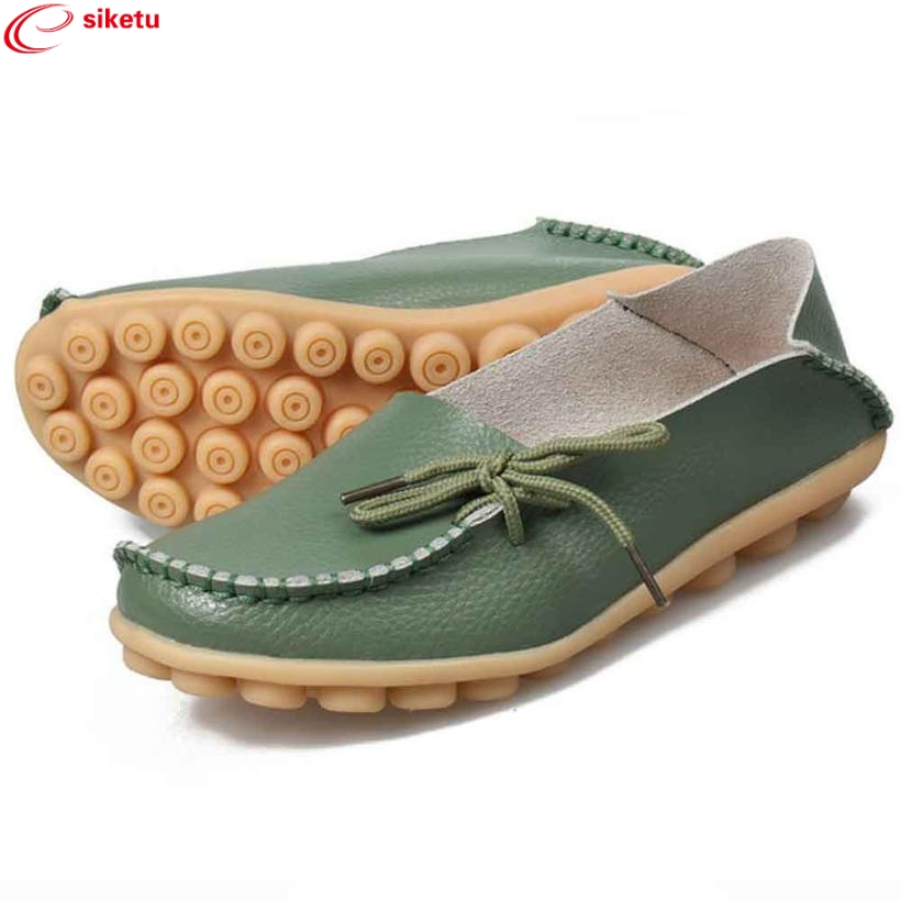 siketu Best Gift Lady Women Leather Shoes Loafers Soft Leisure Flats Female Casual Shoes Drop Shipping Dec30#3 charming nice siketu best gift baby flats tassel soft sole cow leather shoes infant boy girl flats toddler moccasin y30