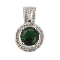 Eulonvan 925 sterling Zilveren Hangers donkergroen Zirconia Trendy sieraden S-3784 Rave reviews Nobele Royale Nieuwkomers