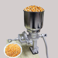 BEIJAMEI Manual Hand Home Large Pepper Tobacco Flour Mill Grinder Herbs Grinding Machine Tinned Iron Mill Grain Grinder