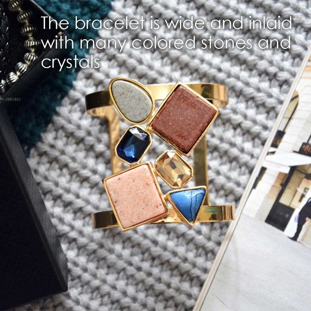 eManco Wide Βραχιόλι Cuff για γυναίκες με - Κοσμήματα μόδας - Φωτογραφία 2