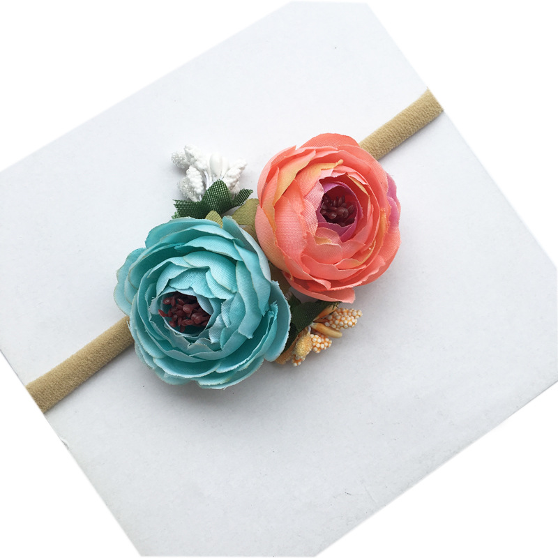 NEWBORN TIEBACK Headband Flower Tieback Nylon hair band kids Girl Headband Newborn Headband Elastic headband Newborn Photo Prop