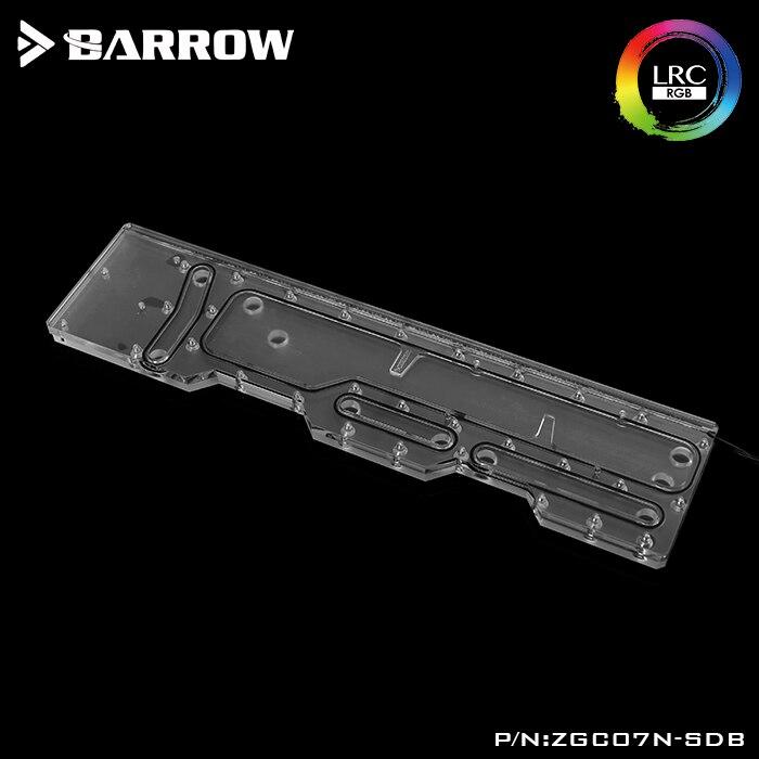 Купить с кэшбэком Barrow Acrylic Board as Water Channel use for Zidli ZG07 Computer Case for Both CPU and GPU Block RGB 5V 3PIN Waterway Boards