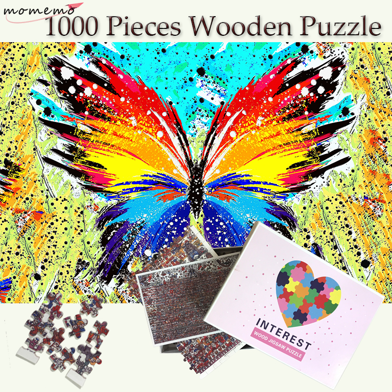Premium Quality Wooden Jigsaw Puzzles 1000 Piece Colorful