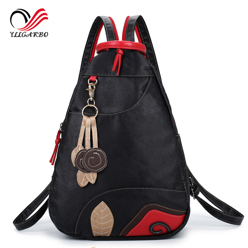New Fashion Multifunctional Waterproof Leather Softback Women's Travel  Backpack Lassel Ladies Chest Pack Sling Shoulder Bag
