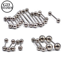 2 pçs g23 sólido titânio piercing industrial brinco barbells barra andaime orelha cartilagem hélice nipple anéis piercing