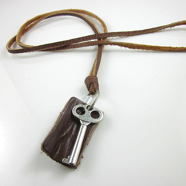 Pendant Real New Collares Kolye Free Shipping 100% Genuine Cowhide Leather Necklace For 2017 Wholesale Fashion Jewelry Ln007