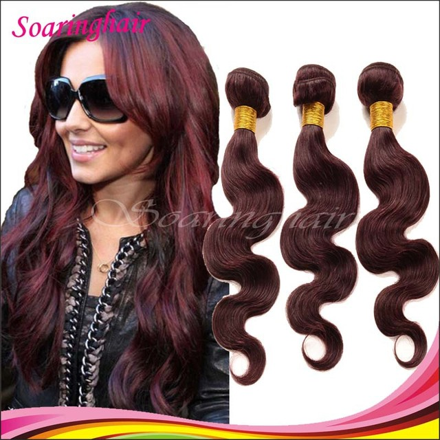 Tissage Malaisie 99j Red Wine Color Burgundy Weave Body Wave Red