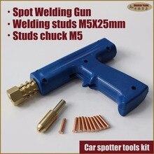 Car spotter metal sheet body repair spot welder collision dent pulling welding machine gun studs with chuck