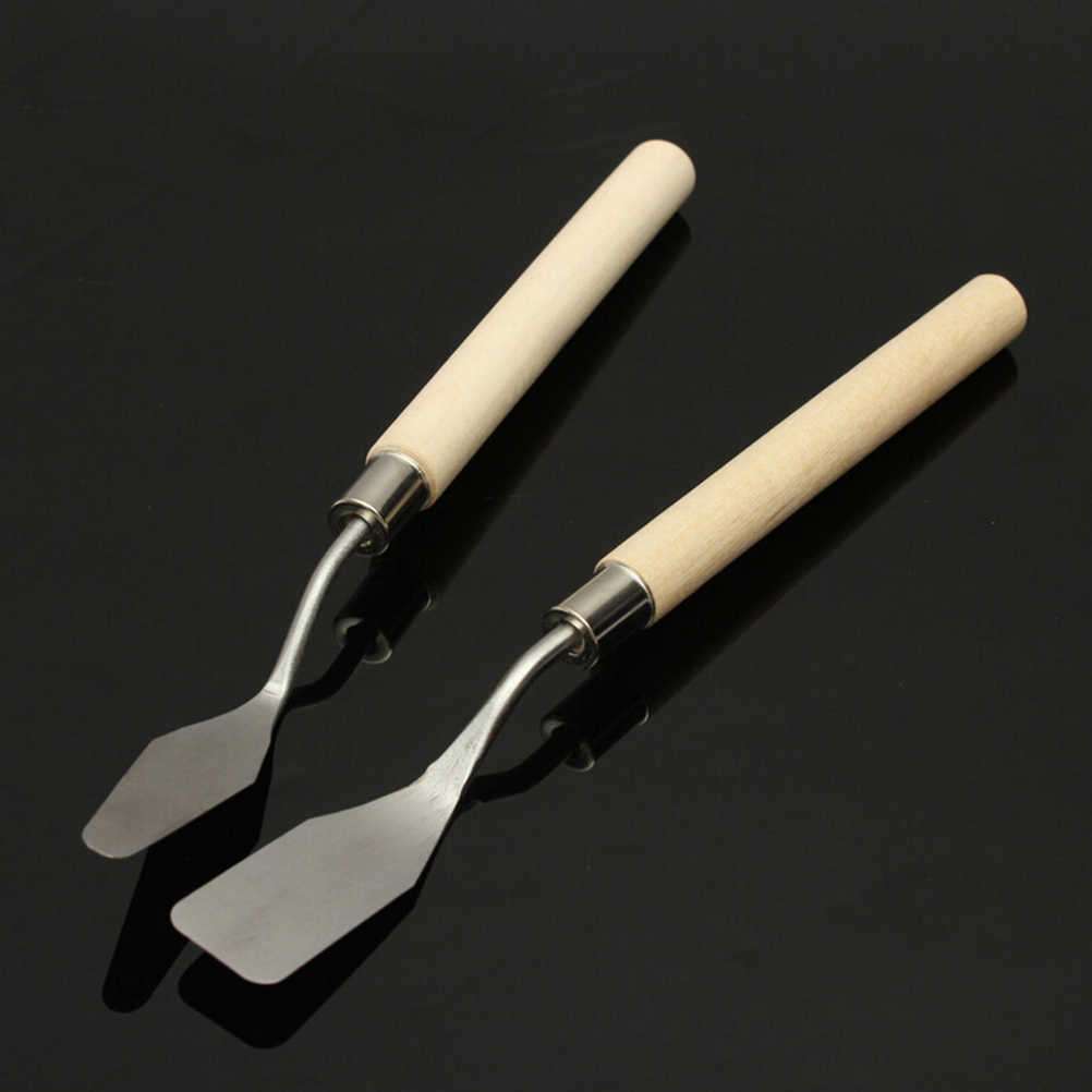 Stainless Steel Oil Knives Artist Crafts Spatula Palette Knife For Oil Painting Art Set Supplies DIY Craft Wholesale