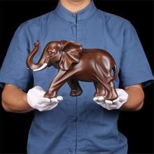 새로운 수 지 코끼리 수 제 공예 장식 홈 거실 사무실 동물 동상 고품질 장식품 선물