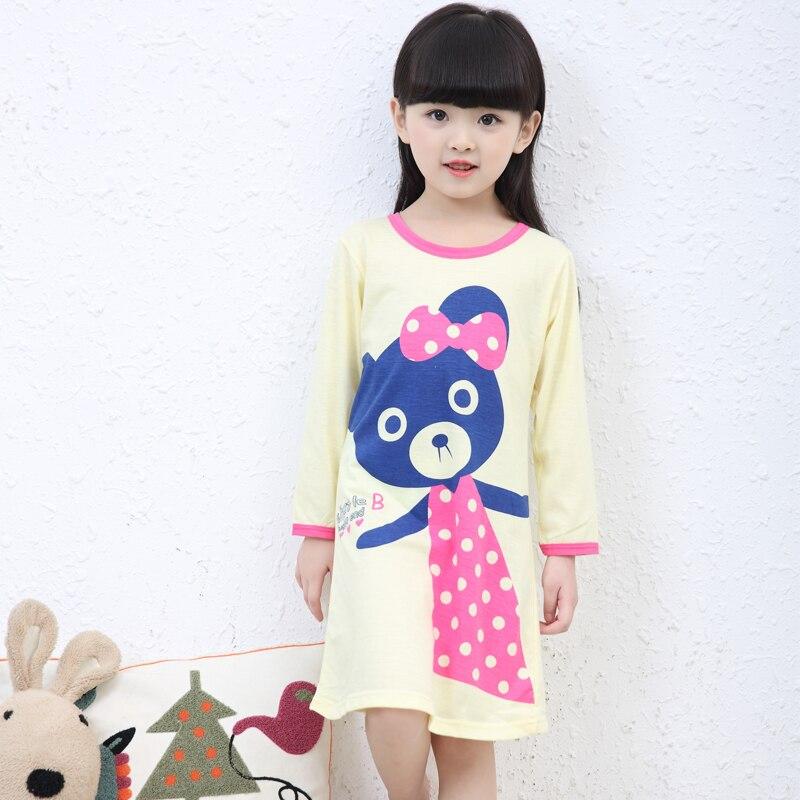 Humorvoll Mädchen Hause Nacht Kleid Kleidung Frühling Sommer Dünne Mädchen Nachthemden Kinder Tuch Mädchen Nachtwäsche Kinder Mädchen Prinzessin Nihgtshirt