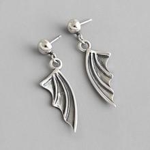 HFYK 925 Sterling Silver Earrings 2019 Vintage Wing Drop Earrings Women Dangle Earrings  bijoux en argent 925 orecchini donna цена