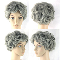 Gray Hair Grey Wigs Black & White Short Women Hair Cosplay Wigs Synthetic Heat Resistant Hair Wig