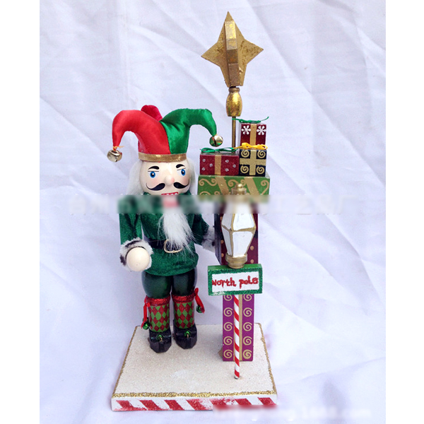 HT054 free shipping toy 38CM fine painted nutcracker walnut Clown soldiers novelty ornaments Exquisite Gift Box Christmas gift