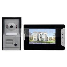 DIYSECUR Video Door Phone Doorbell Intercom System Kit 7 inch Monitor Hand Free Waterproof IR Night Vision Camera