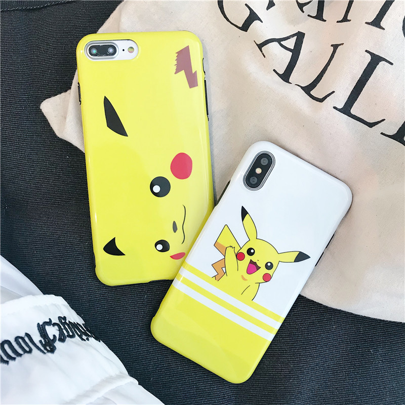 Cartoon Pocket Monsters Pokemon Pikachu Case Silicone Ultrathin Anti Knock TPU Cover For iphone 6 6s Plus S 7 7 plus 8 8Plus X marvel glass iphone case