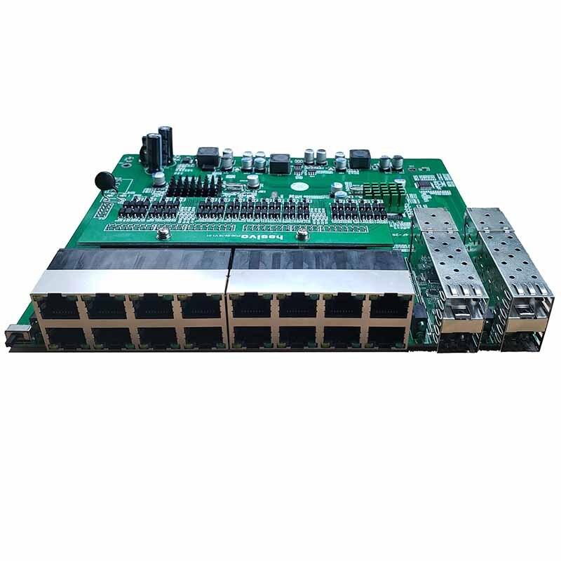 Image 2 - Обратное PoE Питание переключатель 16x10 M/100 M PoE и 4SFP Порты и разъёмы Gigabit Ethernet коммутатор материнская плата (PCB)-in Сетевые коммутаторы from Компьютер и офис