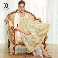 DANA XU 100 Silk Long Scarf Women Large Size Elegant Lady Shawl 2017 New Design
