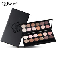 QiBest 12 Color Eyeshadow Naked Palette Mineral Powder Glitter Eye Shadow Makeup Brand Maquiagem Profissional Earth