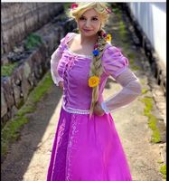 halloween adult rapunzel costume tangled fancy dress+bustle women cosplay tangled rapunzel princess costume for women purple