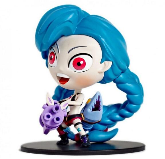 ФОТО Volume order 5pcs/set Leona Jax Gragas Jinx action pvc game figure toy tall 10cm in box via EMS.