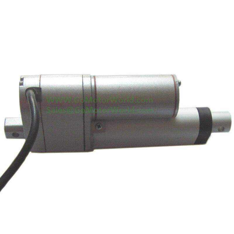 Avec Potentiomètre signal rétroaction 750N 165LBS charge 10 mm/s 0.4 pouces/s vitesse 250mm 10 pouces course 12 v Micro linéaire actionneur LA12