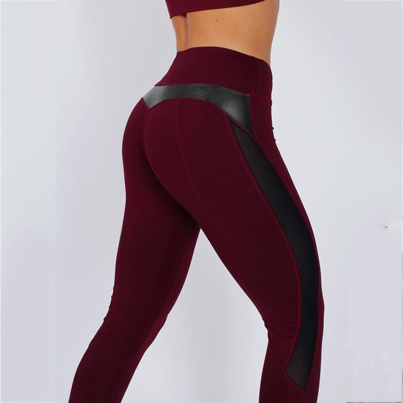 HTB1cnwdbiYrK1Rjy0Fdq6ACvVXaJ CHRLEISURE High Waist Fitness Leggings Women for Leggings Workout Women Mesh And PU Leather Patchwork Joggings S-XL