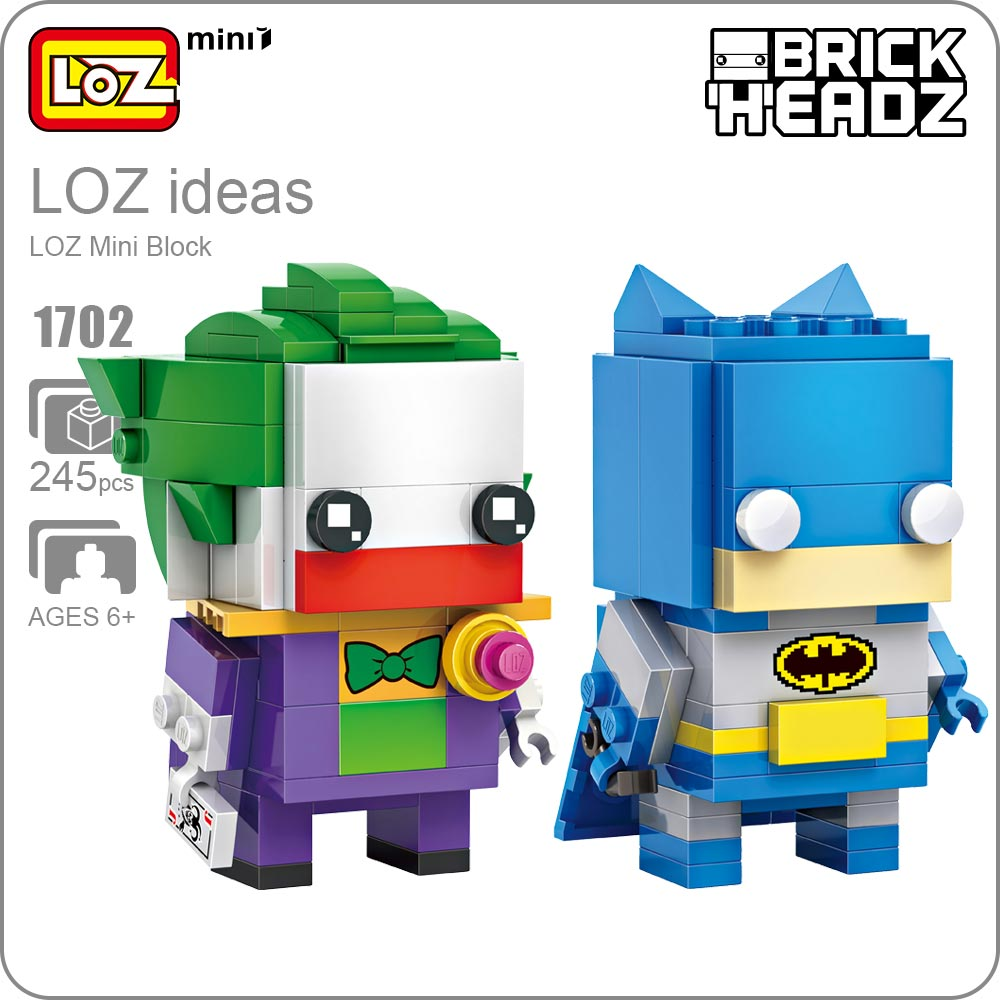 LOZ ideas Mini Block Bricks Batman Joker DC Comics Model <font><b>Action</b></font> <font><b>Figure</b></font> Doll Justice League Dolls Self-Locking ABS Toys DIY 1702