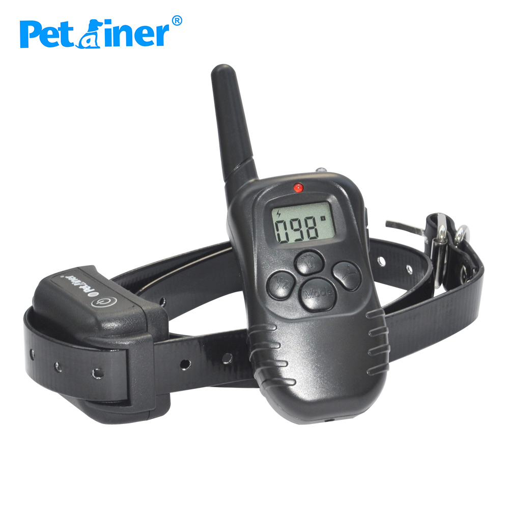 Petrainer 998DB-1 300M Rechargeable Waterproof Remote Control Dog Training