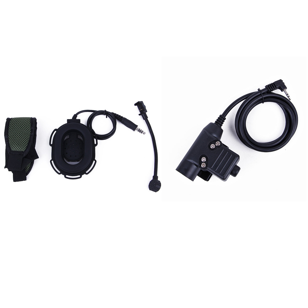 HD03 Z Tactique Bowman Elite II Casque U94 PTT pour Motorola 1pin Radio TLKR T80 T60 T3 T5 T6 T7 T5410 T5428 T6200