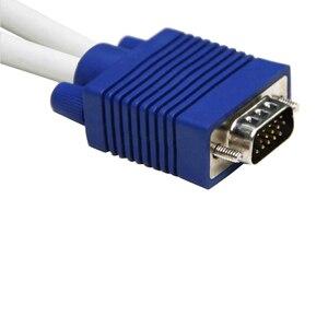 Image 4 - Larryjoe 高品質 1 コンピュータデュアル 2 モニターの Vga スプリッタケーブルビデオ Y スプリッタ 15 ピン 2 ポート VGA 男性に女性
