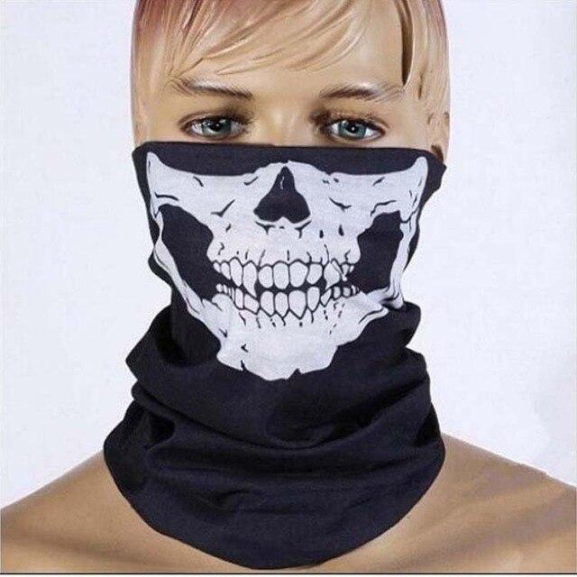 e313fc9a5c85 Conception de crâne Multi Function Bandana Motard Écharpe Tube Cou Visage  Masques Bandeau Hommes Écharpes Accessoires
