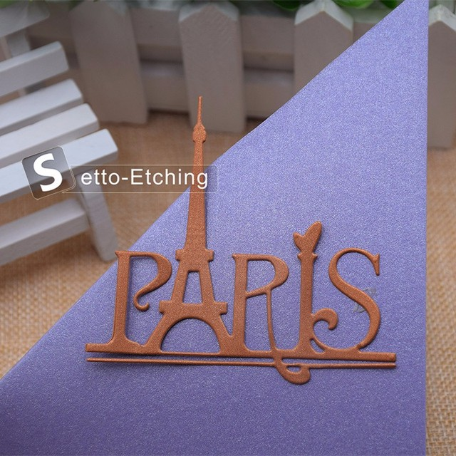 Eiffel Tower Paris Metal Cutting Dies Stencils for DIY Scrapbooking/photo album Decorative Embossing DIY Paper Cards Craft Gift