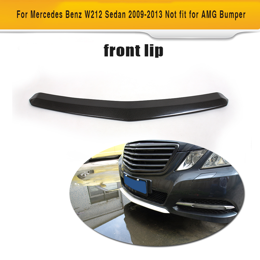 E Class Carbon Fiber Front bumper Lip Spoiler For Mercedes Benz W212 Sedan 4 Door Standard 09-13 E250 E300 E350 Non Sport AMG цена