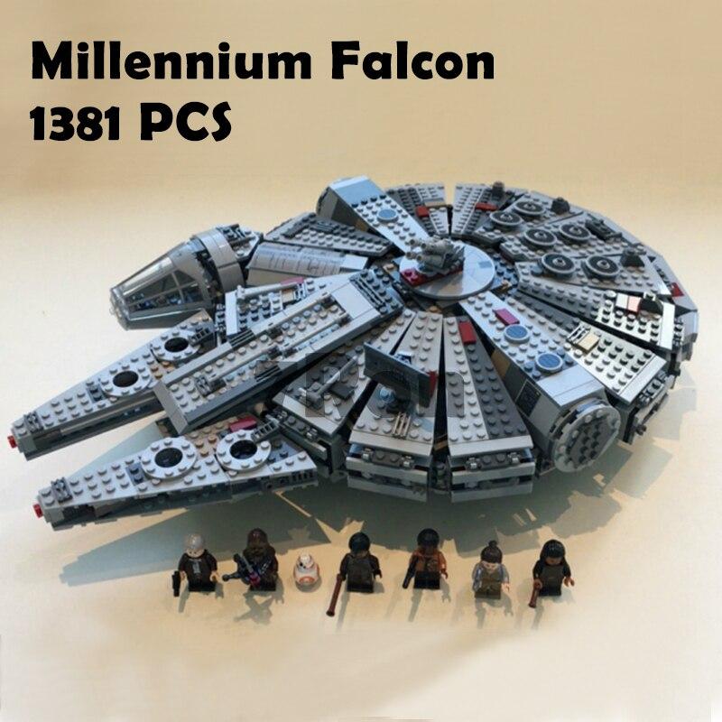 05007 Star Wars Millennium Falcon Figure Jouets Modèle blocs de construction kits marvel Enfants Jouet Compatible avec lego 75105